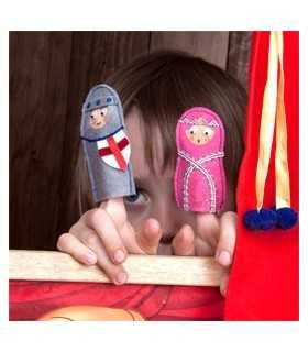 Titelles de dit amb imant. Sant Jordi, el Drac i la Princesa